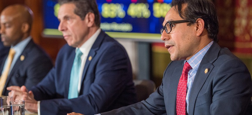 Robert Mujica with Andrew Cuomo