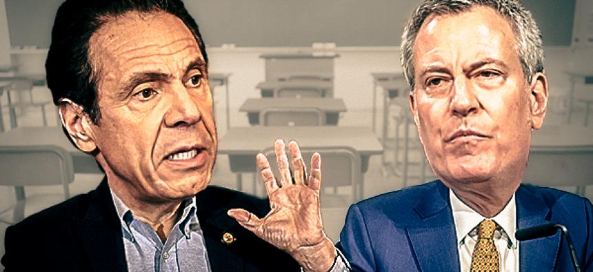 NY Governor Andrew Cuomo and NYC Mayor Bill de Blasio