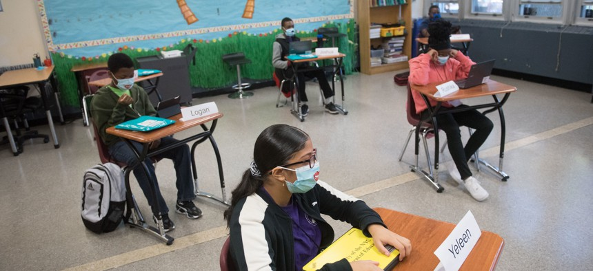 Students at the One World Middle School at Edenwald in the Bronx.