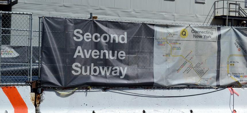 Second Avenue subway construction