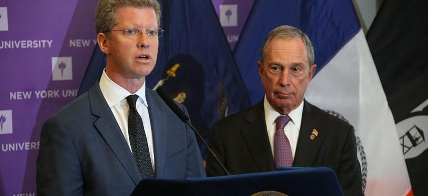 Shaun Donovan and then Mayor Michael Bloomberg in 2013.