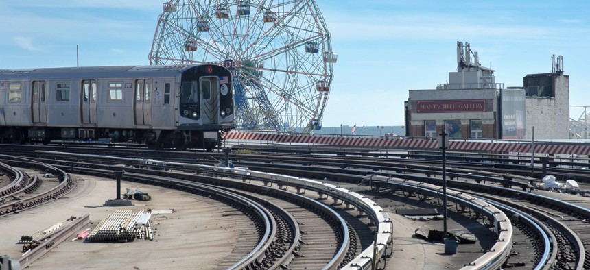 A subway at Coney Island