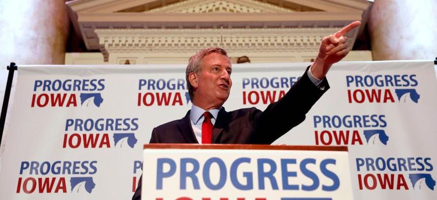 Bill de Blasio Iowa