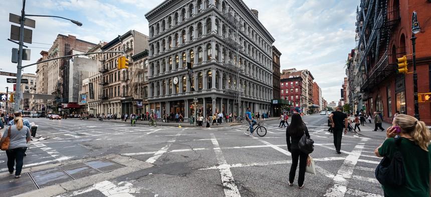 SoHo neighborhood in Manhattan.