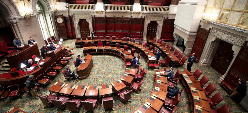 The state Senate met with a limited number of Senators on March 18th.