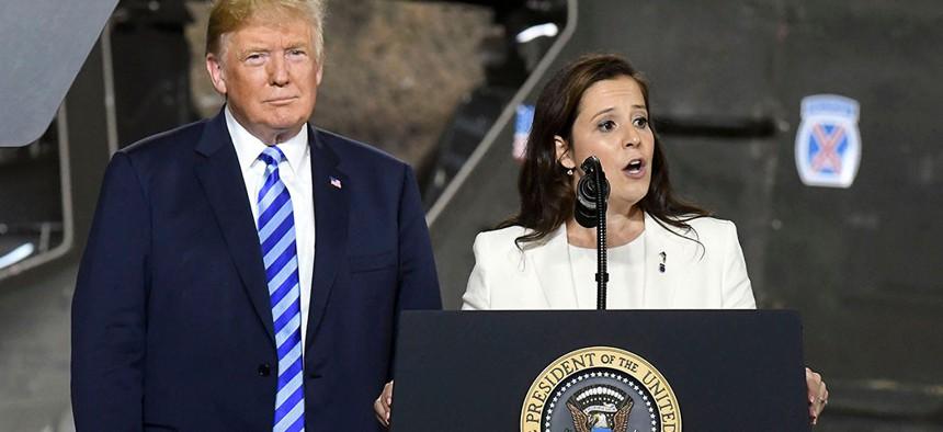 President Donald Trump and Rep. Elise Stefanik.