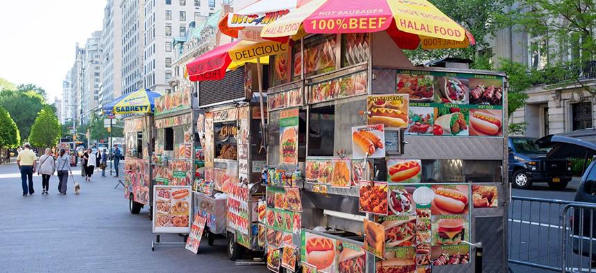 New York City street vendors.