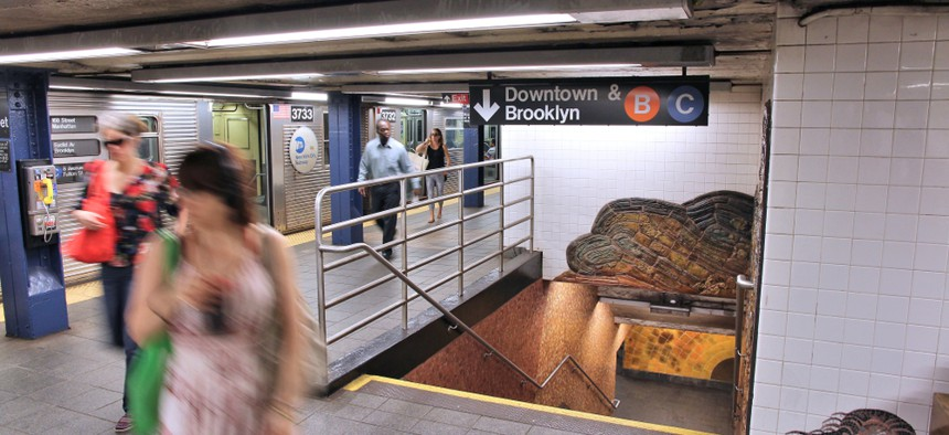 The New York City subway station at 81st Street and Central Park West