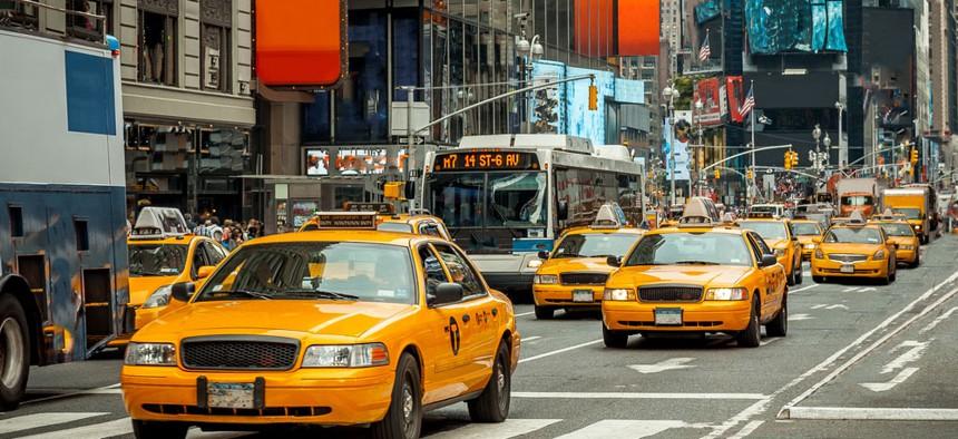 New York City yellow cabs.