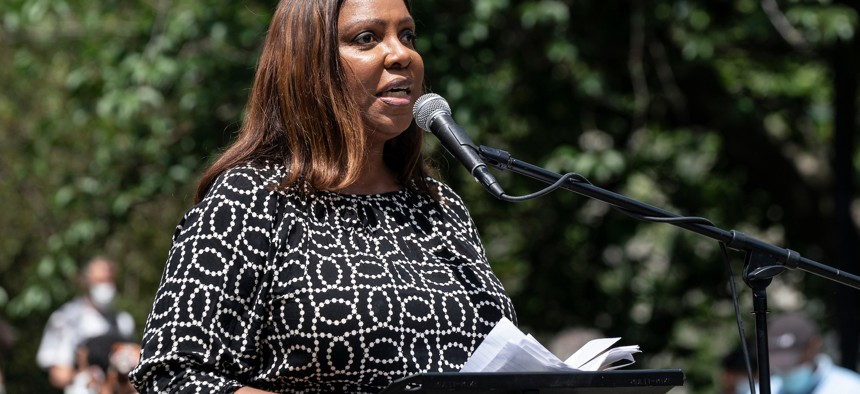 New York State Attorney General Tish James in June 2020.