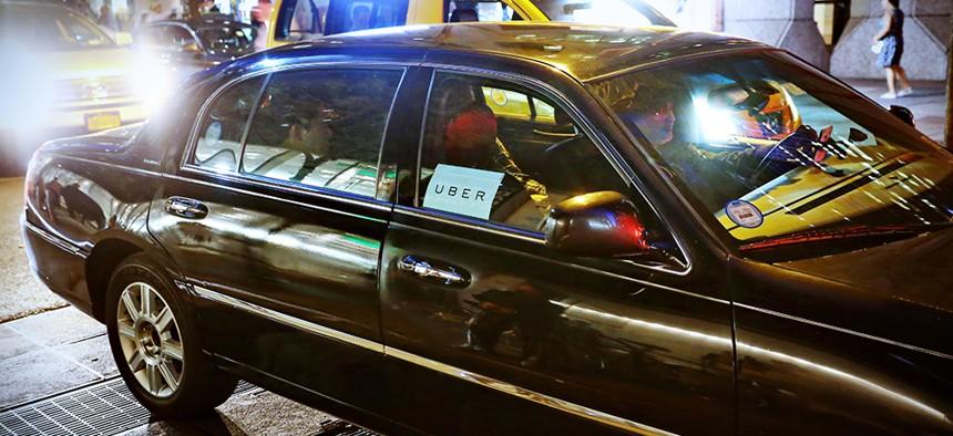 Uber car in New York City