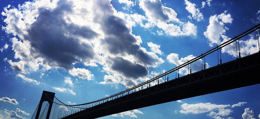 The Verrazano-Narrows Bridge.