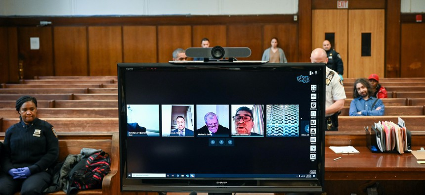 New York City's criminal court has started conducting all arraignments by video conferencing.