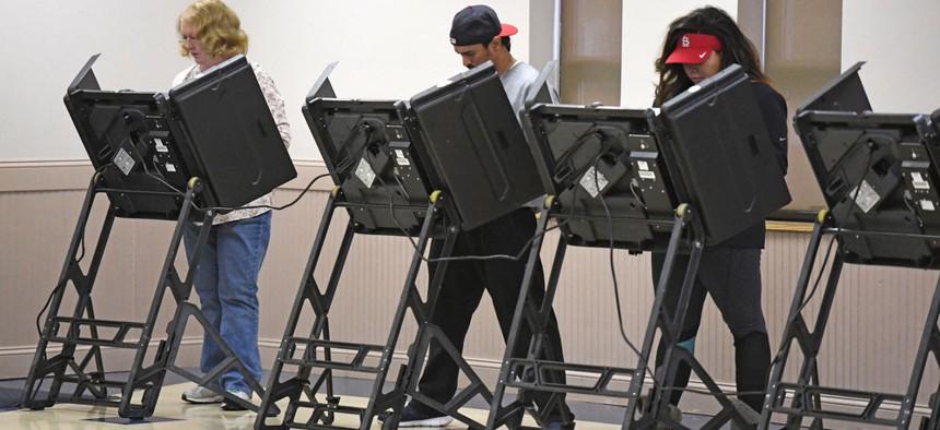 Voting machines.