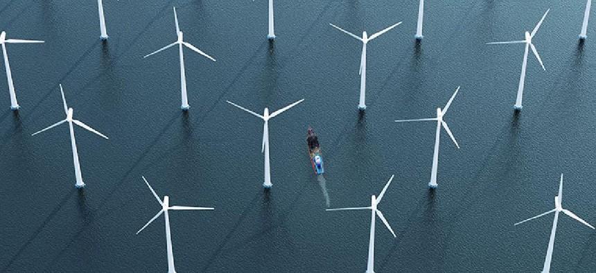 Windfarms off the coast of long island