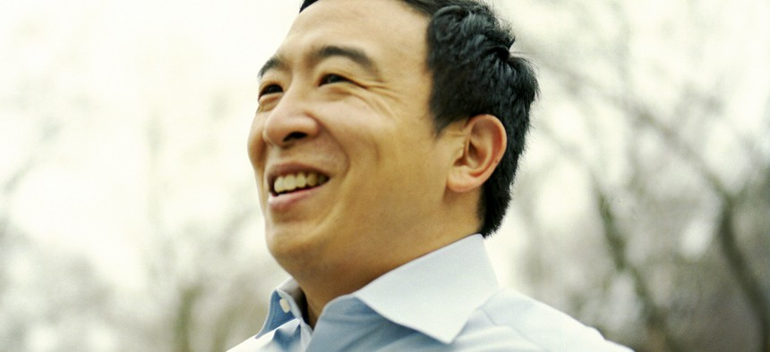 Leading New York City mayoral candidate Andrew Yang.