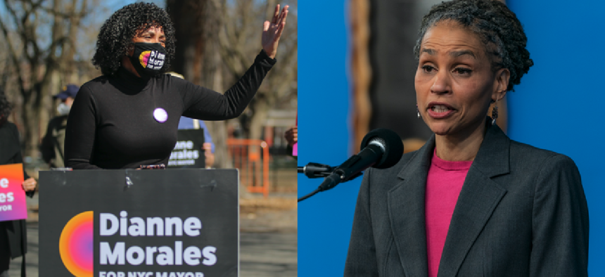 Mayoral candidates Dianne Morales and Maya Wiley.