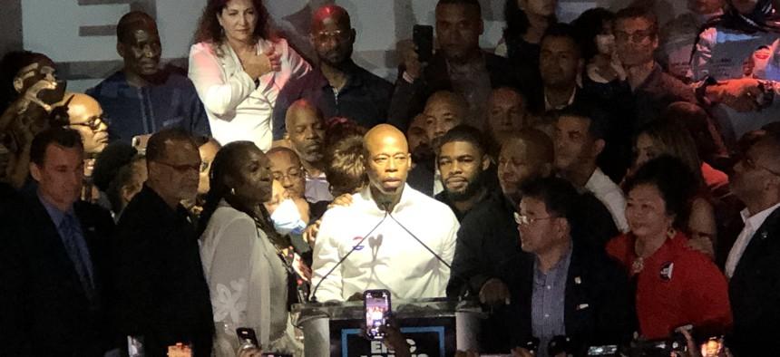 Mayoral contender Eric Adams
