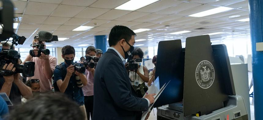 Andrew Yang voting