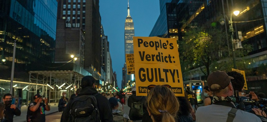 New Yorkers take to the streets on April 20