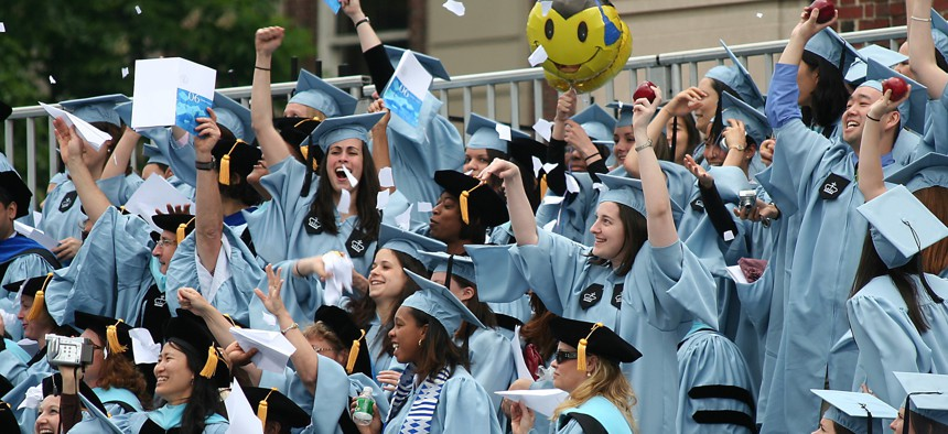 Columbia University received about $12.8 million