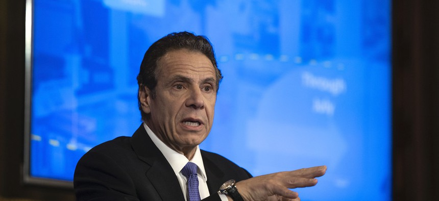 Governor Cuomo during a coronavirus update on April 1st.