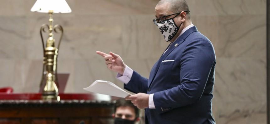 New York State Senator Gustavo Rivera on April 6.