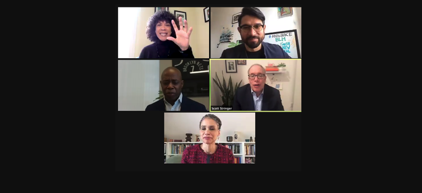 Mayoral candidates on zoom