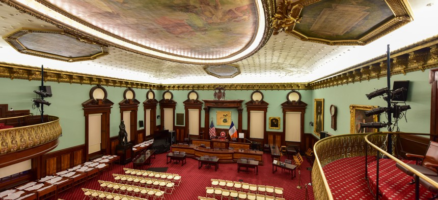 The New York City Council chamber.