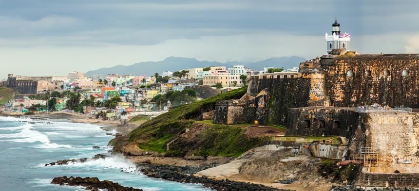The El Morro Fortress in San Juan, Puerto Rico.