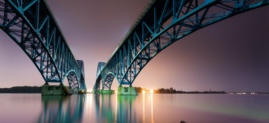 The South Grand Island Bridge spanning the Niagara River.