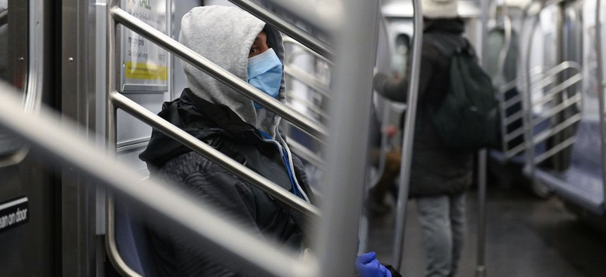 Ridership on the subway in New York City has plunged as the coronavirus pandemic has worsened.