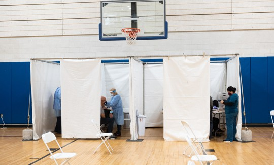 Vaccine center at the Gerald Carter Center on Staten Island.