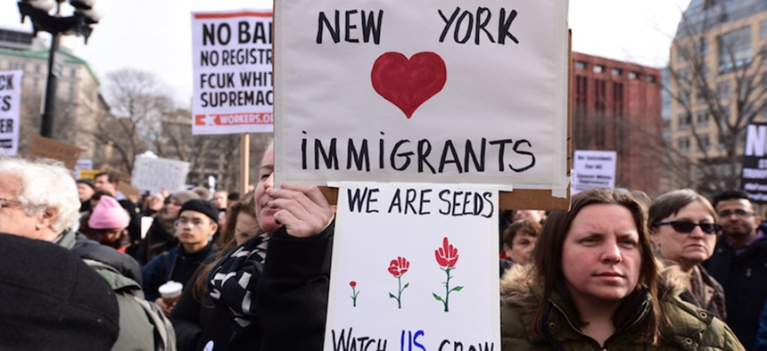 NY immigrant protest