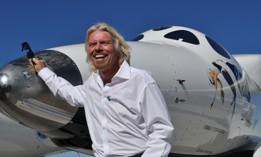 Richard Branson in Spaceport America, New Mexico.