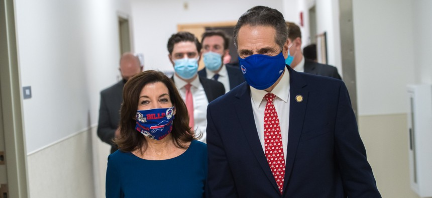 Lt. Gov. Kathy Hochul and Gov. Andrew Cuomo will have a lot to talk about over the two-week transition.