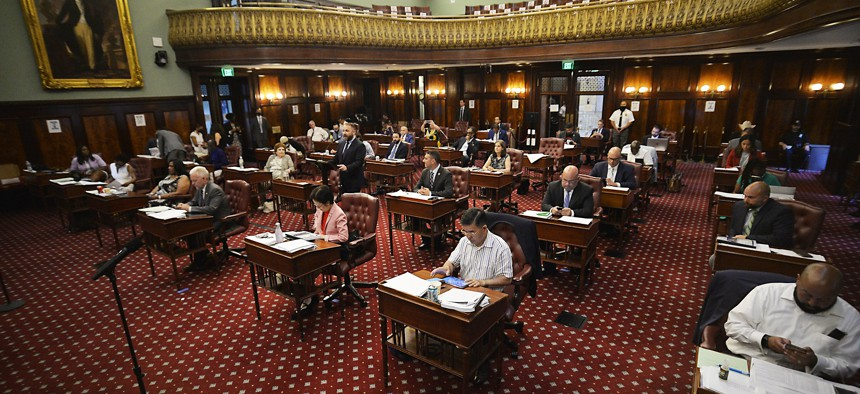Many New York City Council staffers are still working from home.