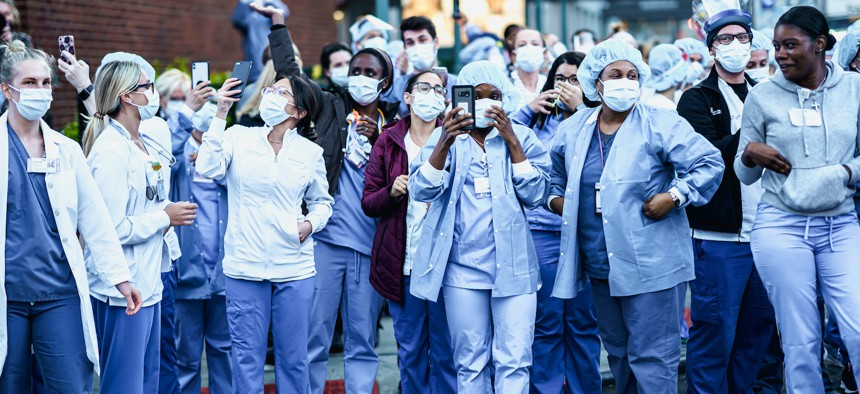 New York state has not yet acted on calls to implement a law already on the books to reduce the risks of infection to front-line, essential workers.