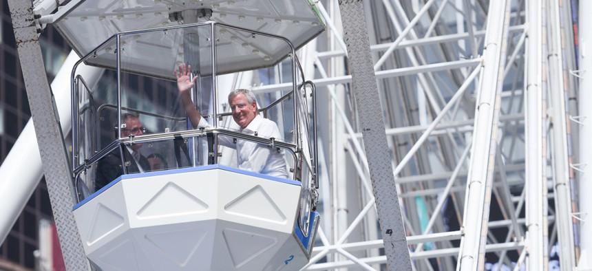 New York City Mayor Bill de Blasio has rarely said no to a political challenge.