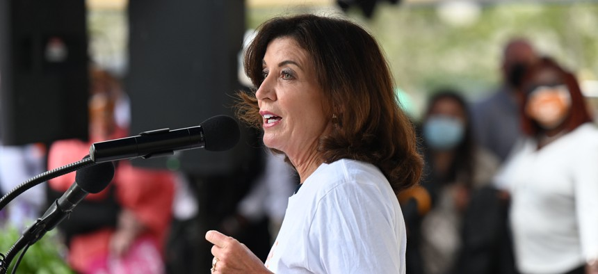 Gov. Kathy Hochul's nomination of Adrienne Harris to be the superintendent of the state Department of Financial Services is controversial.