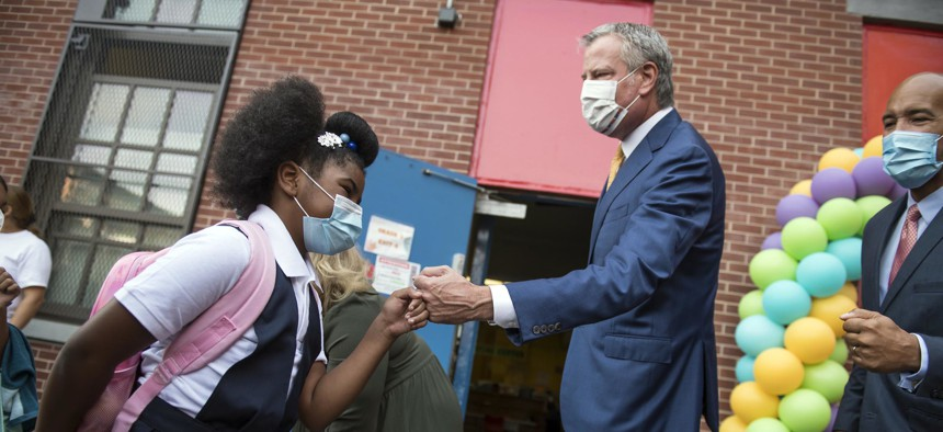 New York City stopped short of requiring students 12 and older to get COVID-19 vaccinations.