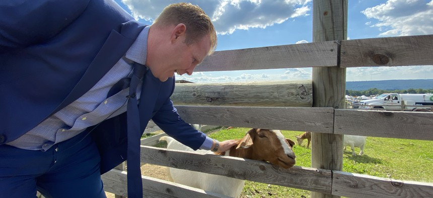 On the day state Attorney General Letitia James released the report that ended Andrew Cuomo's career, Andrew Giuliani was talking to upstaters at Empire Farm Days.