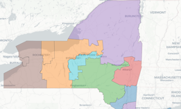 The Independent Redistricting Commission released two sets of maps along partisan lines, despite their mission to avoid partisan gerrymandering. There is a dramatic difference, for example, between the GOP version of the House district map, left, and the Democrats' version, right.