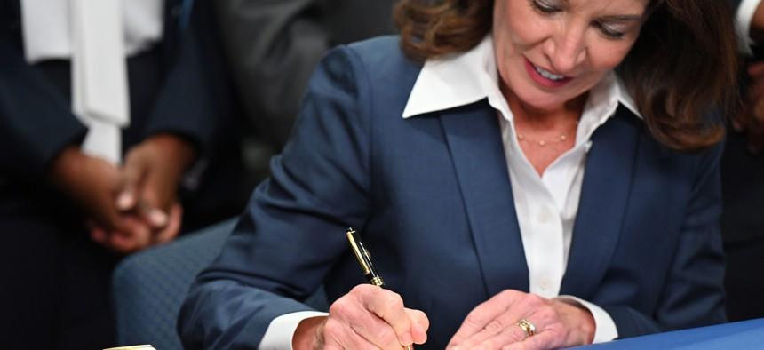 Gov. Kathy Hochul has signed 11 bills into law thus far.