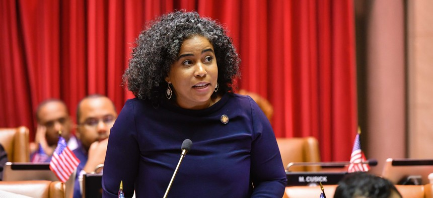 Assembly Member Karines Reyes has been a vocal leader since the onset of the coronavirus pandemic.