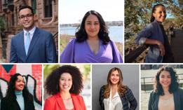 Shaun Abreu, Amanda Farías, Tiffany Cabán, Alexa Avilés, Sandy Nurse, Marjorie Velázquez, and Jennifer Gutiérrez