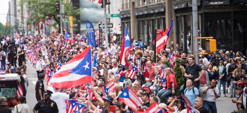 Puerto Rican day parade in NYC.
