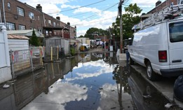 Flooding in East Elmhurst, Queens caused by Hurricane Ida.