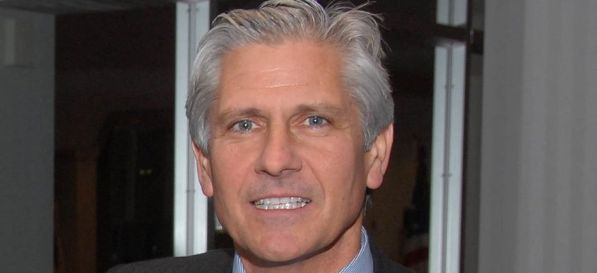 Bruce Blakeman (far right), a Republican Nassau County executive candidate.