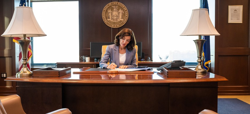 Gov. Kathy Hochul issued her first vetoes as governor last week.